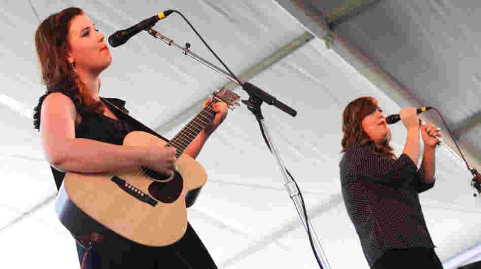 Secret Sisters' Laura and Lydia Rogers perform at the 2011 Newport Folk Festival.