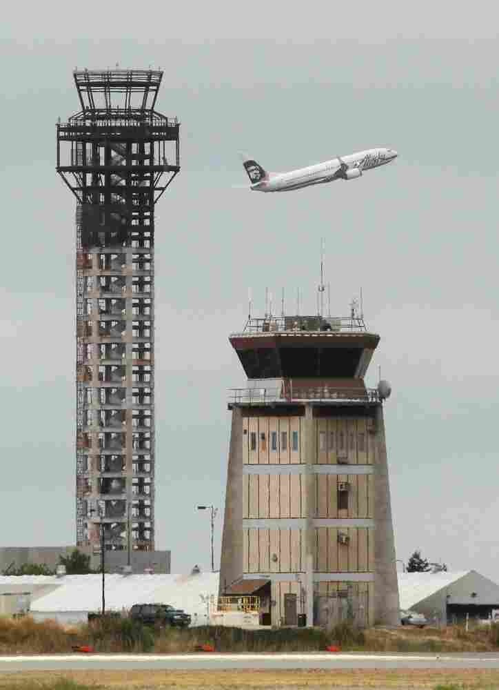 Construction crews at a new air traffic control tower at Oakland International Airport were told on July 19 to stop working after the U.S. House refused to reauthorize routine funding of the Federal Aviation Administration.