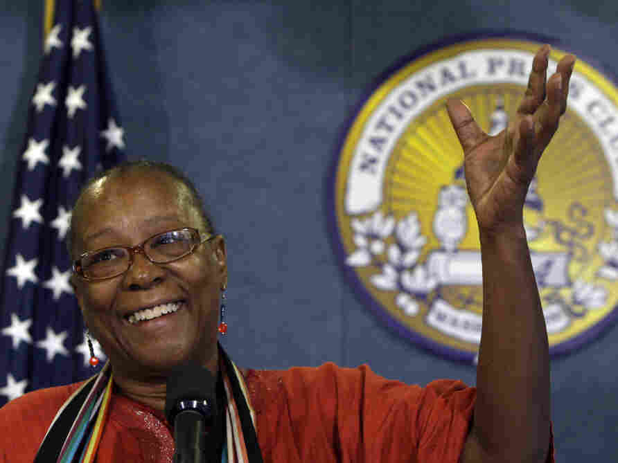 Bertha Lewis speaks at the National Press Club in Washington, Tuesday, Oct. 6, 2009.