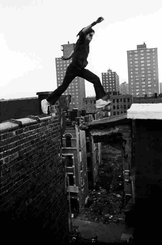 Rafael, 13, jumps between buildings, eight stories up,   1977
