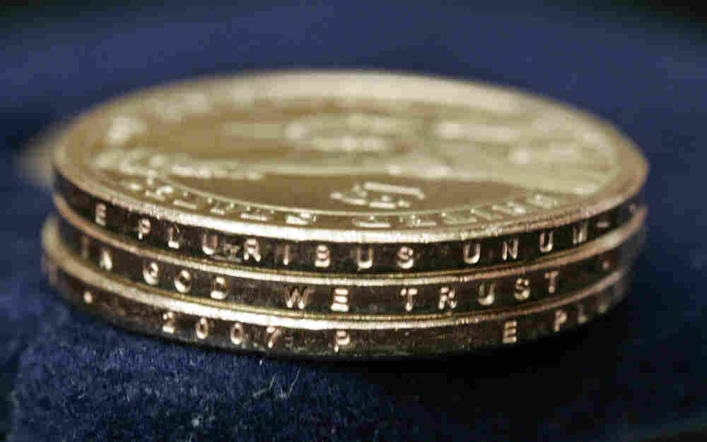 Dollar coins.