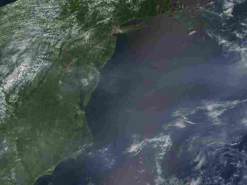 The Moderate Resolution Imaging Spectroradiometer on a NASA satellite captured this image on the morning of Aug. 2 as temperatures were beginning to climb. At the time, a high heat advisory was in effect for the region. The haze appears to be concentrated over the Atlantic Ocean, east of Washington, D.C., but this may be an illusion.