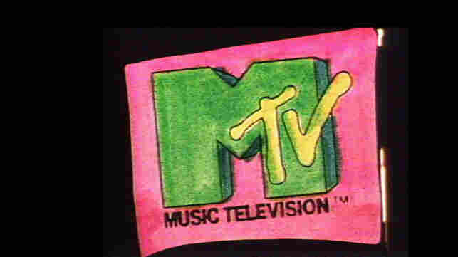 A still from the mutating MTV logo, from 1981.
