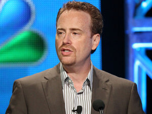 Chairman of NBC Entertainment Robert Greenblatt speaks to critics at the Television Critics Association press tour on Monday, August 1.