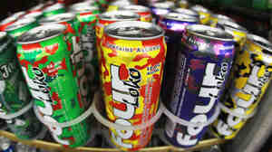 Cans of fruit-flavored Four Loko in the liquor department of a convenience store in Miami in 2010.