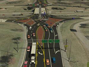 "Tom Vanderbilt calls left turns ""the bane of traffic engineers."" The diverging diamond interchange, he says, is one way to get around them."