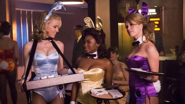 Amber Heard as Maureen, Naturi Naughton as Brenda, and Leah Renee as Alice in NBC's new fall drama The Playboy Club.
