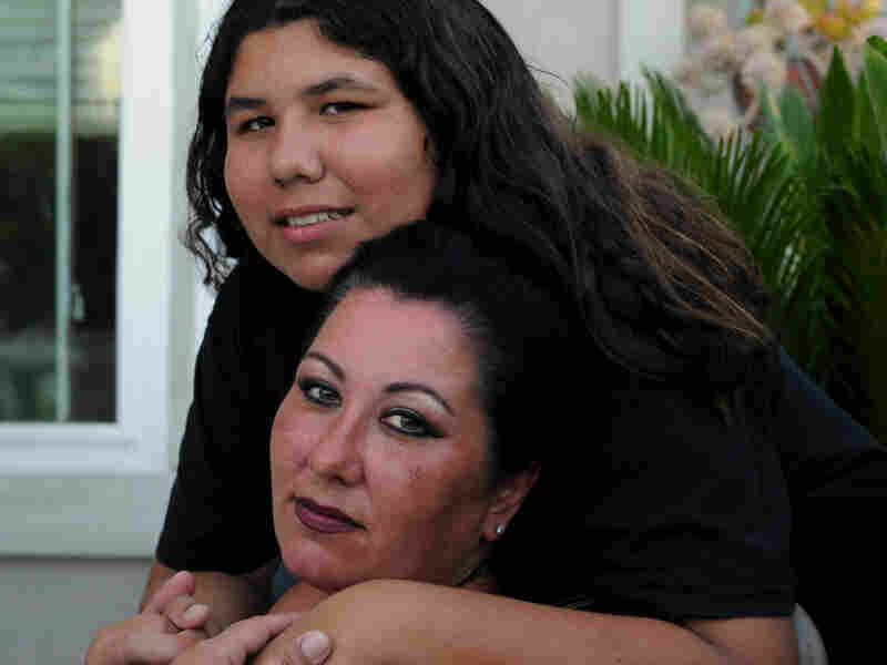 Christina Brown lives with her 15-year-old son, Samsin, and three of her other children in Wildomar, Calif.