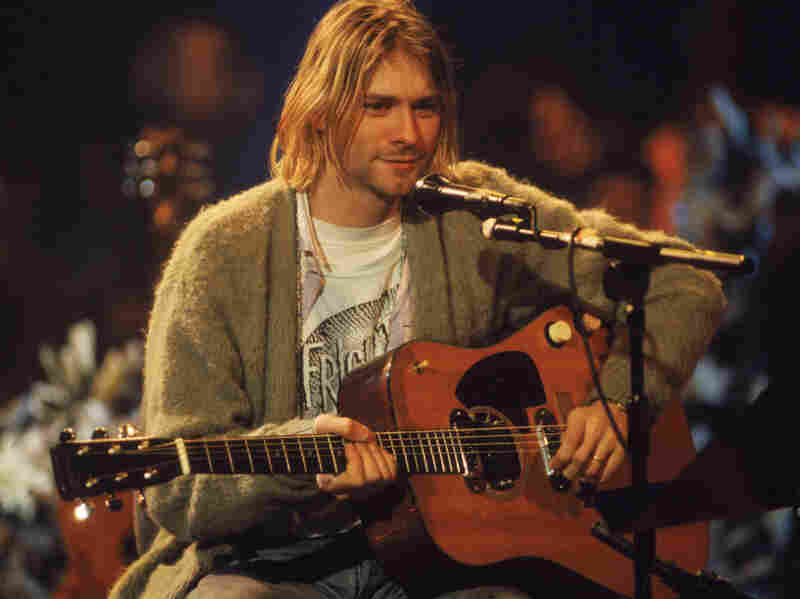 Kurt Cobain performed with Nirvana at a taping of MTV Unplugged in 1993.