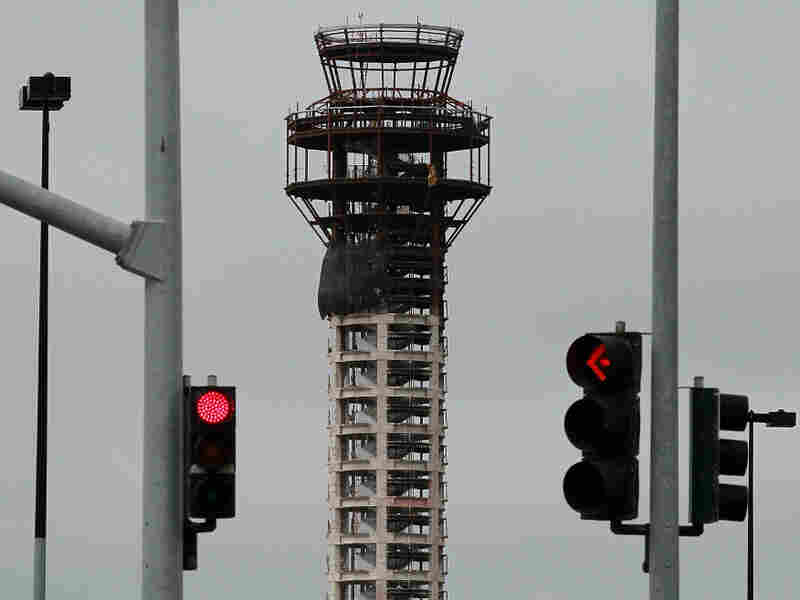Construction crews working on a new FAA air traffic control tower at Oakland International Airport were told to stop working after the House of Representatives refused to reauthorize routine funding of the Federal Aviation Administration. A deal to restore funding was reached Thursday.