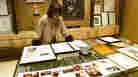 Linda Johnson Rice, president and chief operating officer of Jet magazine, looks over awards and recognitions won by the magazine at Jet's Chicago headquarters in 2001.