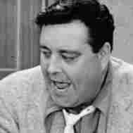 Jackie Gleason (right) played Ralph Kramden — a bumbling but loveable overweight husband — in the 1950s sitcom The Honeymooners. Audrey Meadows co-starred as his wife, Alice.