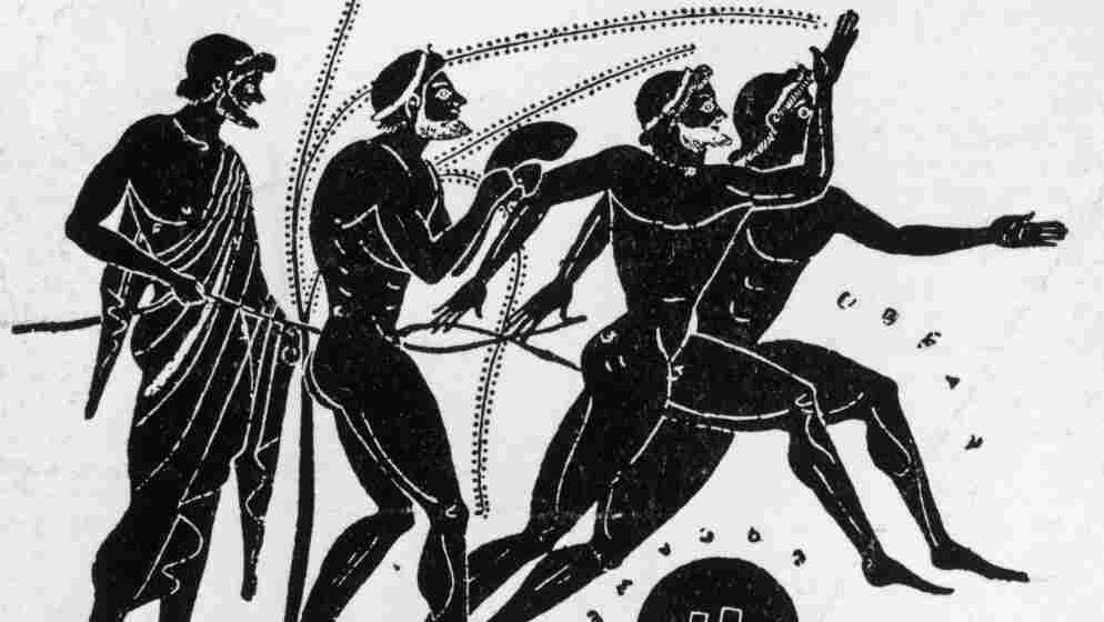 An early Olympiad depicted on a 5th-century BC black figure Greek vase: a scenario that inspired an opera by Pergolesi.