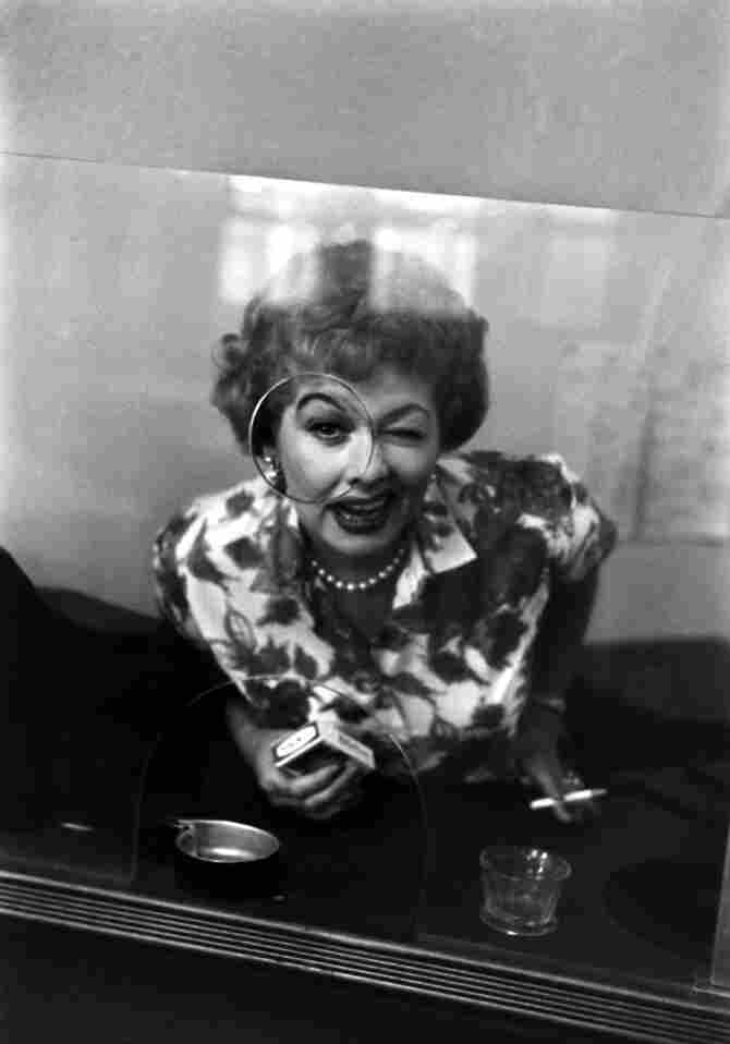 Ball does a comedy bit on the set of The Lucy-Desi Comedy Hour, 1958.