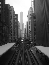 The elevated train