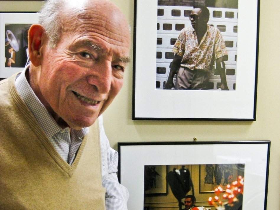George Wein has managed the Newport Jazz and Folk Festivals for almost six decades. This year, he's making an important change to keep the festivals running. (Catherine Welch/NPR)