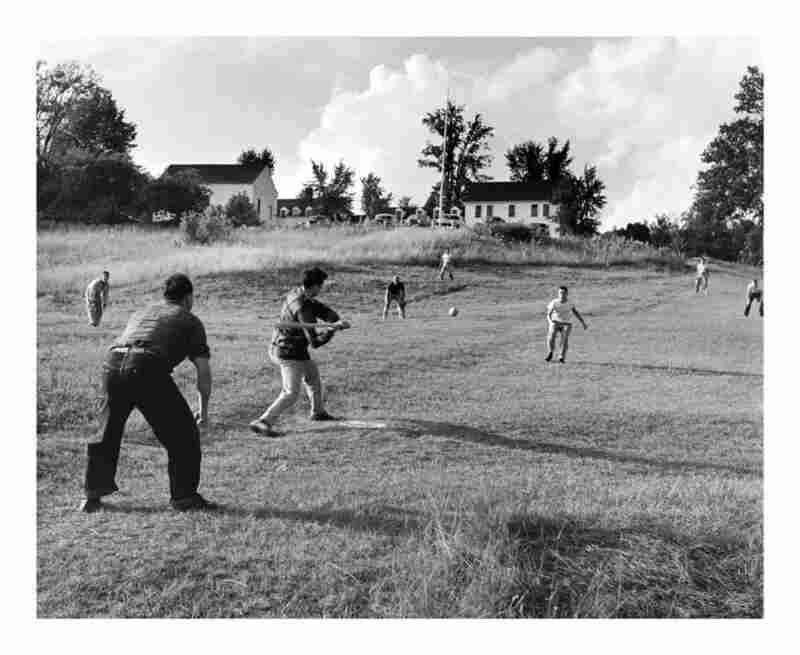 A softball game on the Marlboro campus, 1950s.
