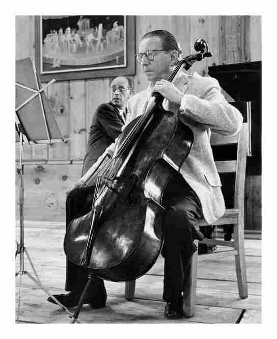 Cellist Hermann Busch and Rudolph Serkin rehearse in the 1960s.
