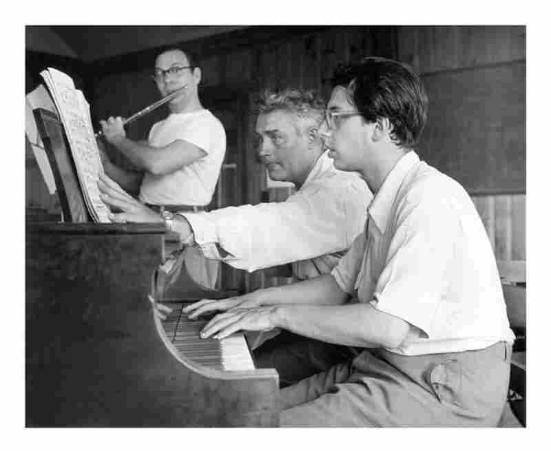 (L-R) Bernard Goldberg with Marlboro co-founder Louis Moyse and Luis Batlle in 1963.