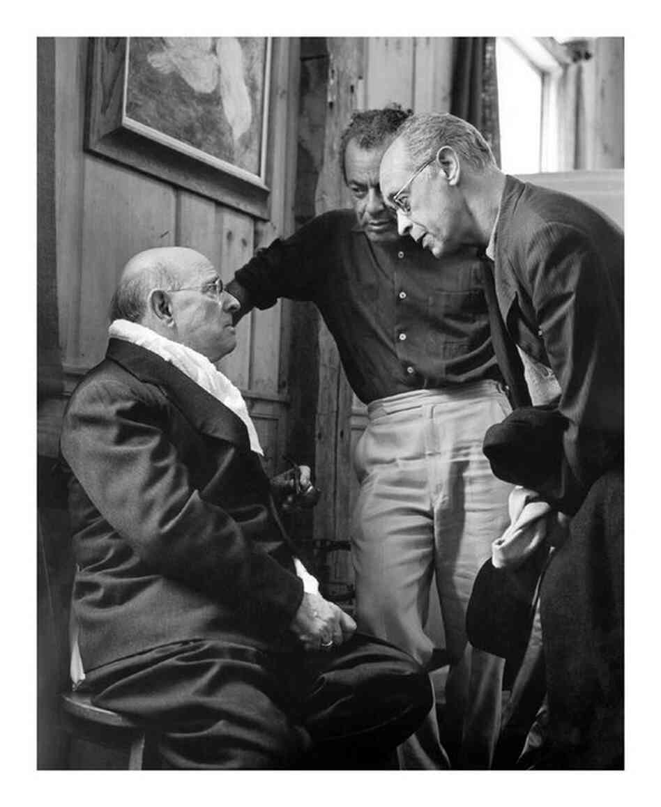 Marlboro Festival founder Rudolf Serkin (right) with Pablo Casals (left) and Alexander Schneider at Marlboro in the 1960s.