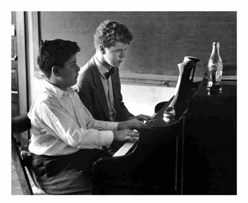 James Levine (left) with Van Cliburn in 1956.