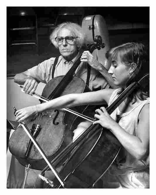 Paul Tortelier with Wilhelmena Smith in 1989.