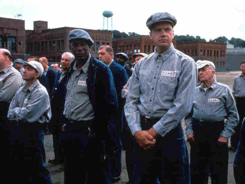 The Shawshank Redemption, starring Morgan Freeman (left) and Tim Robbins, was shot at the abandoned Ohio State Reformatory. Today, the buildings in the background are gone, but the prison's main building has been preserved by locals.