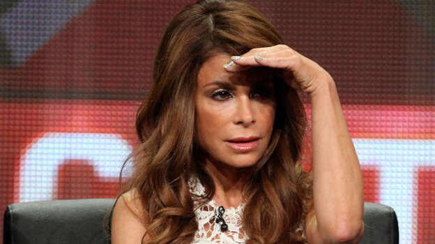 Paula Abdul looks for a questioner during the panel discussion about Fox's The X Factor Friday at the Television Critics Association press tour.
