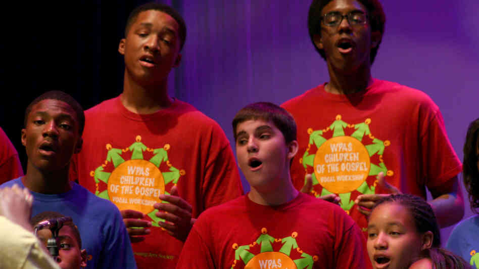 The Washington Performing Arts Society's Children of the Gospel Choir performing at the Kennedy Center's Millennium Stage July 31, 2011.