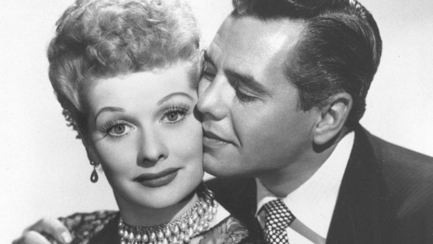 Lucille Ball with husband and I Love Lucy co-star, musician-actor Desi Arnaz. Ball, who died on April 26, 1989, would have celebrated her 100th birthday on Saturday, Aug. 6, 2011. (AP)