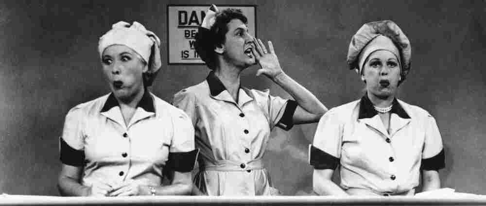 Sticky Situation: Lucy (Lucille Ball, right) and her friend Ethel (Vivian Vance, left) got into all sorts of trouble during I Love Lucy's nearly 200 episodes. In this famous scene, they struggle to keep up on a chocolate assembly line.