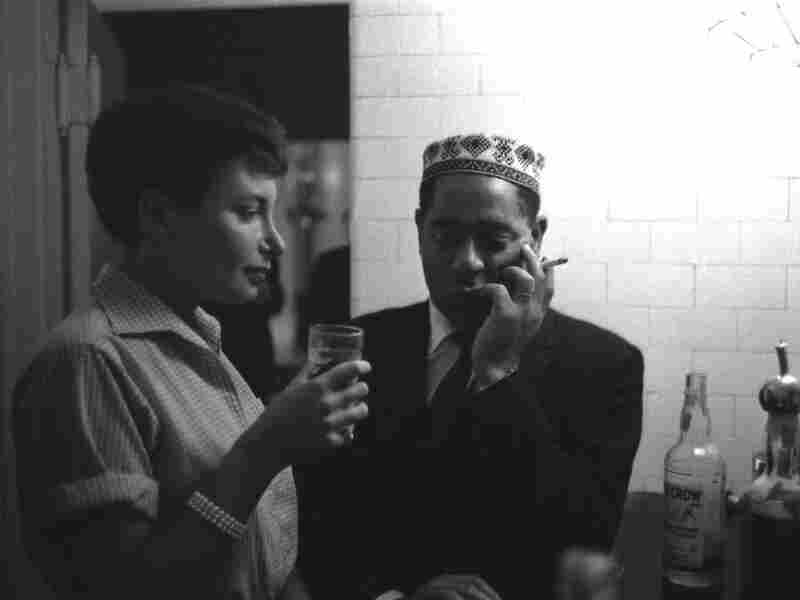 Barbara Carroll with Dizzy Gillespie, c. 1957.