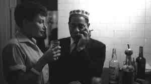 Barbara Carroll with Dizzy Gillespie, c. 1957.
