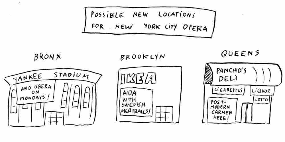 New York City Opera: It could pop up almost anywhere