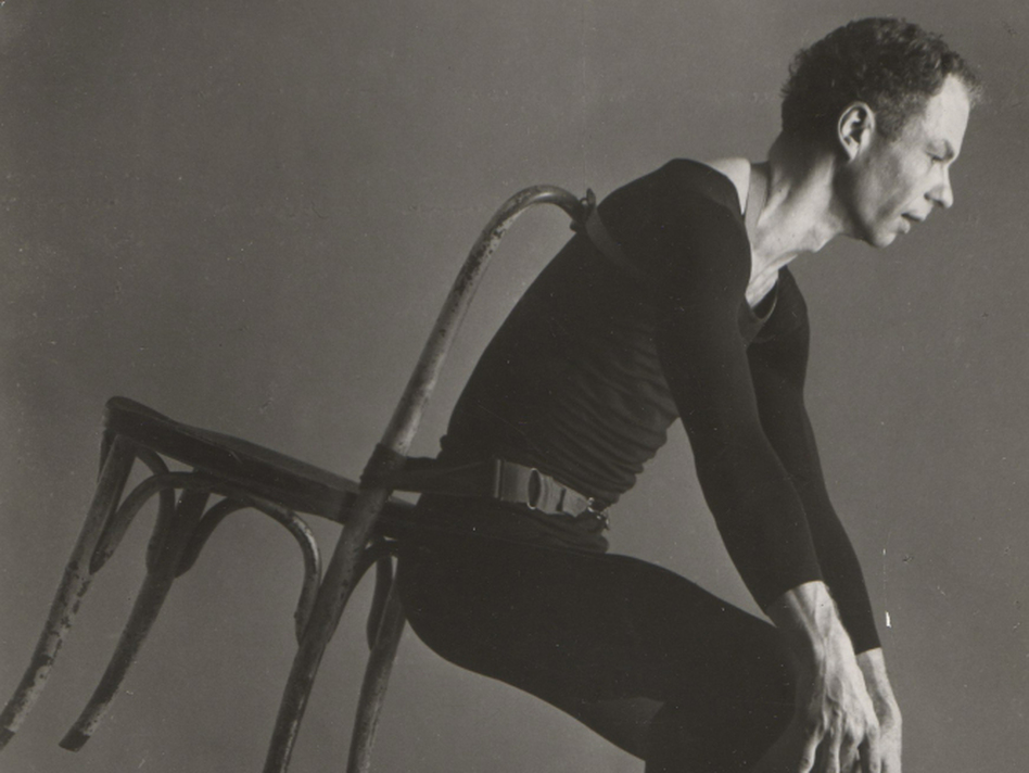 Merce Cunningham dances in his 1958 work Antic Meet. (Courtesy of Merce Cunningham Dance Company)