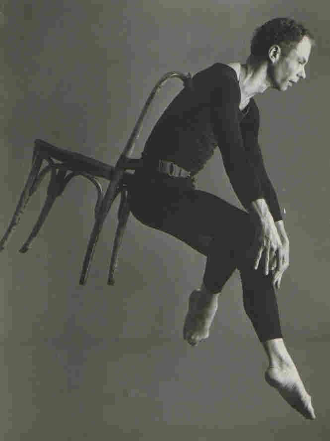 Merce Cunningham dances in his 1958 work Antic Meet.