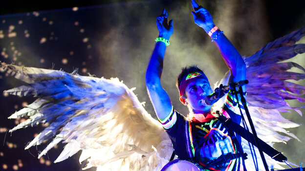 Sufjan Stevens performing at the bandshell at Celebrate Brooklyn in Prospect Park on August 3, 2011.