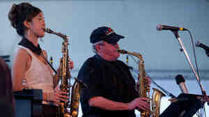 Grace Kelly with special guest Phil Woods performs on the Harbor Stage during the Newport Jazz Festival.
