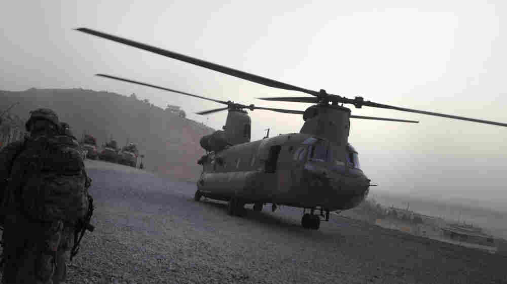 The 30 American service members who died on Saturday were aboard a Chinook helicopter like this one when it was hit by a rocket-propelled grenade.