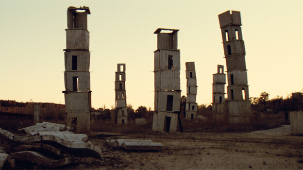 The Ruins: German painter and sculptor Anselm Kiefer has spent over a decade converting an abandoned silk factory in Barjac, France into his own massive installation, complete with paintings, sculptures and surrealist landscapes. The film, so entrenched in the process of creation, rarely pauses to explain what his work signifies.