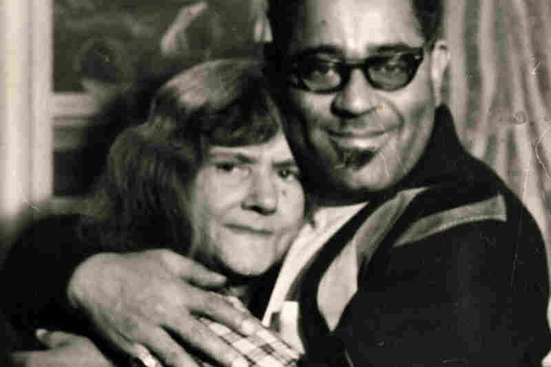 Dizzy Gillespie with Gertrude Abercrombie on his birthday, 1964