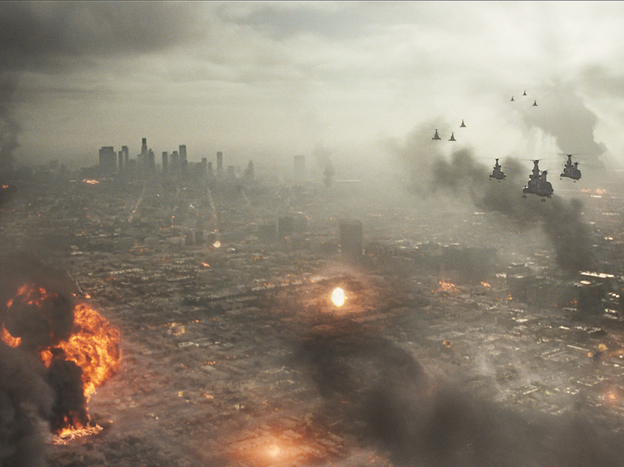 Invading space aliens destroy L.A. in this year's <em>Battle: Los Angeles.</em>