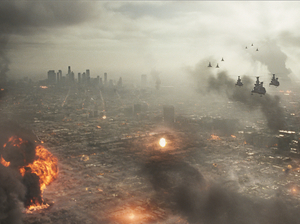 Invading space aliens destroy L.A. in this year's Battle: Los Angeles.