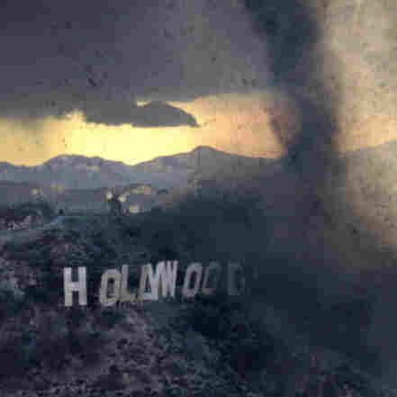 A tornado destroys the Hollywood sign (and everything it stands for) in the 2004 film The Day After Tomorrow.
