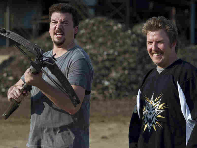 Dwayne (Danny McBride) and Travis (Nick Swardson) are two lowlifes trying to raise the money to sic a hitman on Dwayne's rich father. Inexplicably, the otherwise dim bulbs are quite adept at rigging explosive devices to people.