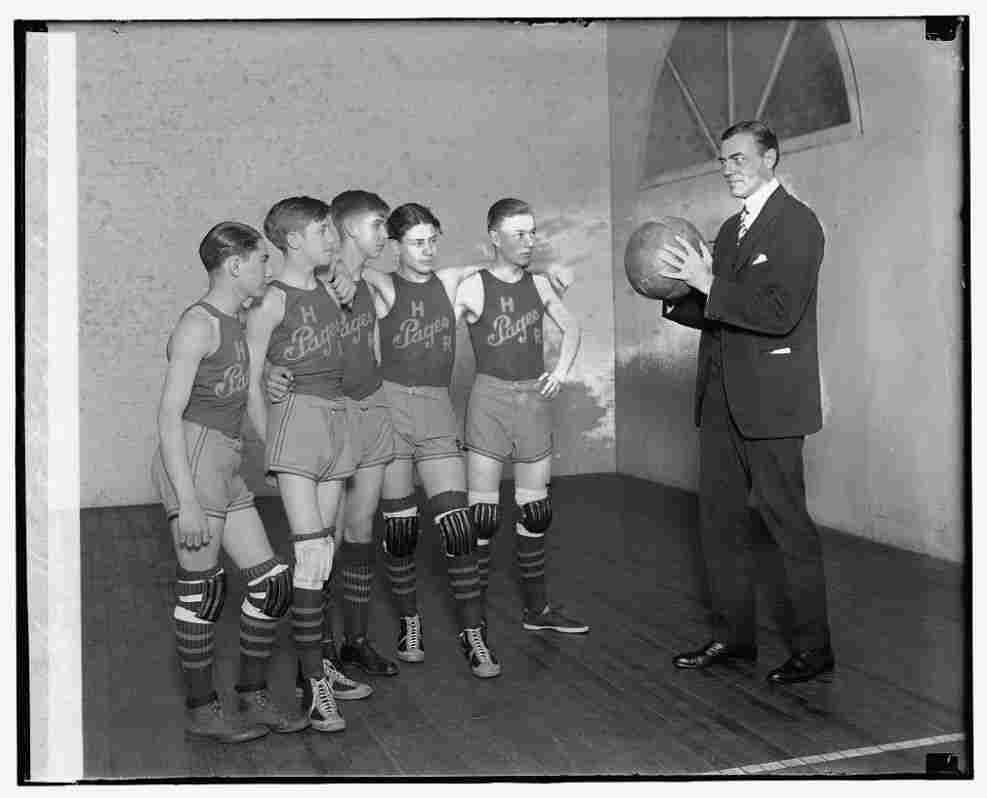 Rep. Hamilton Fish, a New York Republican, and the House page basketball team, Jan. 15, 1927.