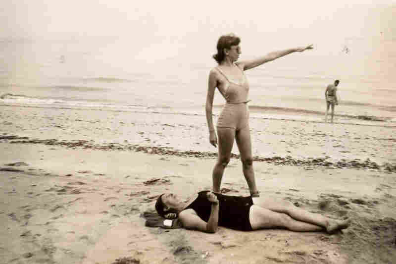 Lee Krasner at the beach, circa 1950