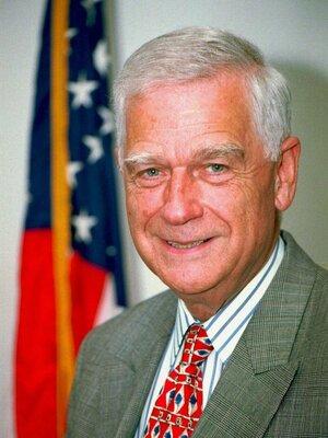 Then-Sen. Mark Hatfield, Aug. 1996.