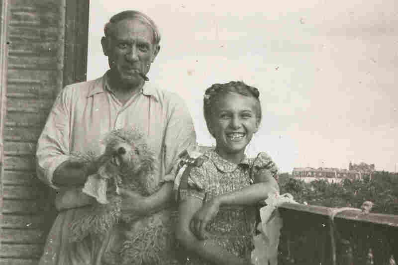 Pablo Picasso and daughter Maya Picasso, circa 1944