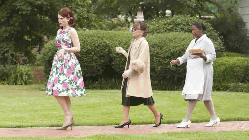 Bryce Dallas Howard (from left), Sissy Spacek and Octavia Spencer star in The Help, based on a novel by Kathryn Stockett.
